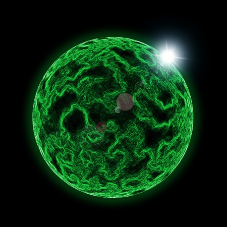 abstract planet in outer space Stock Photo - 11430394