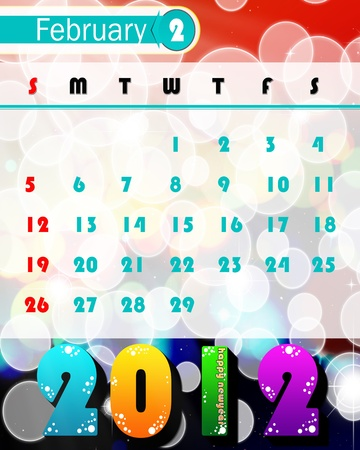 new year calendar 2012 photo