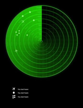 Green radar image Stock Photo - 11734391