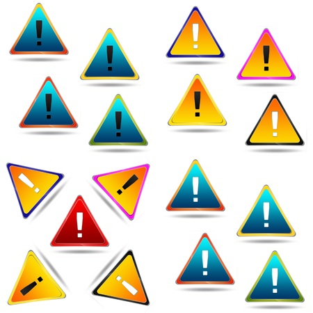 Warning Icon set Stock Photo - 11734394