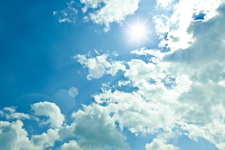 Beautiful blue sky and white clouds  Stock Photo - 12515223