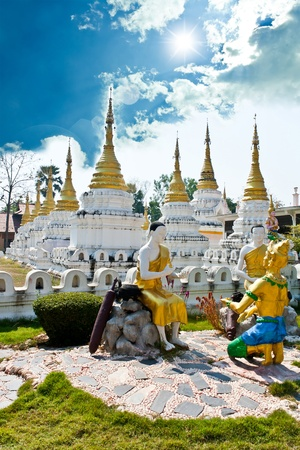 Chedi Sao  temple Lampang, Thailand photo