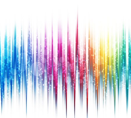 Abstract rainbow colours on a white background spectrum photo