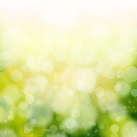 green bokeh abstract light background Stock Photo - 13598714