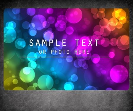 Blank photo frame isolated on bokeh background Stock Photo - 13700361