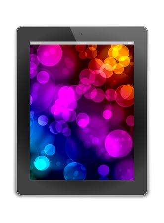 tablet pc, isolated on background white  photo