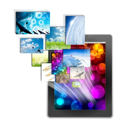 tablet pc, isolated on background white  Stock Photo