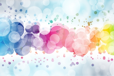Abstract on a colorful background digital bokeh effect  photo