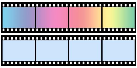 Roll film: Pel�cula curvada hoja de color sobre fondo gris