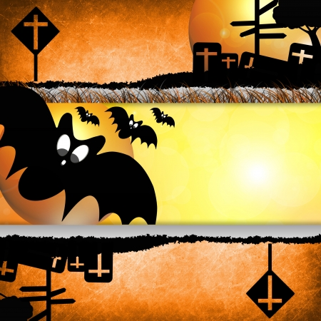Halloween day Design on background orange photo
