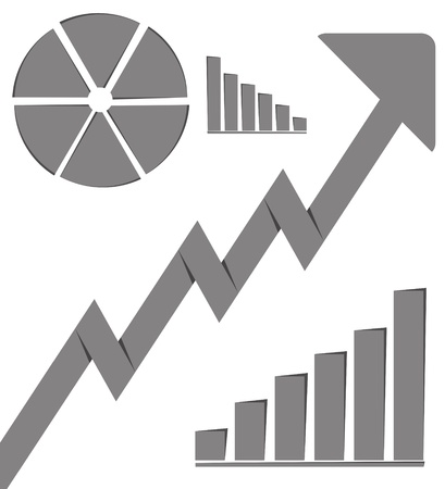 Business graph growth progress gray arrow  Stock Photo - 16218161