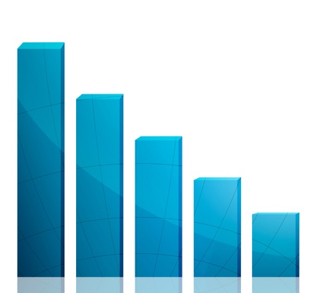 Business graph growth blue arrow Stock Photo