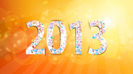 Happy New Year orange background photo