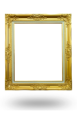 gold frame on the white background Stock Photo