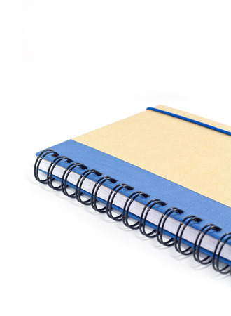 Blue note book isolated on white background  photo