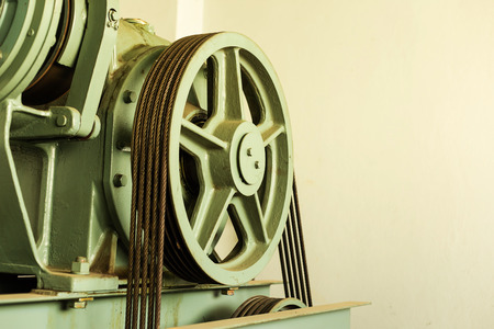 shaft: Elevator shaft maintenance. cable control