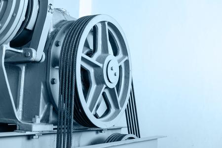 Elevator shaft maintenance. cable control
