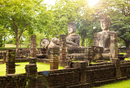 The Buddha at Kamphaengphet Historical Park Nong Pong District Kamphaeng Phet Province, Thailand