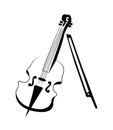 violin vector isolated on white background