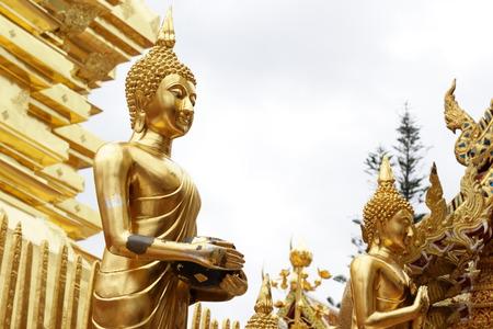 01: Buddha , Changmai Doi Suthep 01 Stock Photo