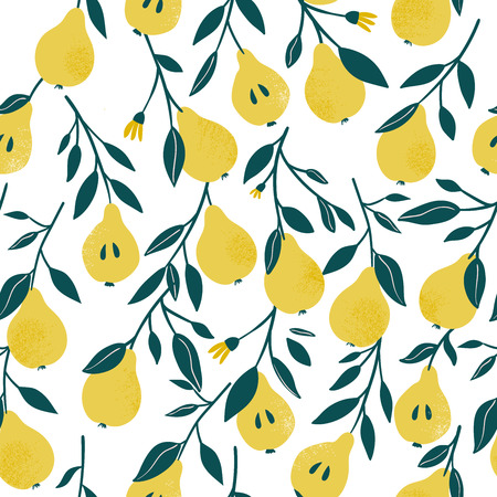�¡ute vector seamless pattern with yellow 