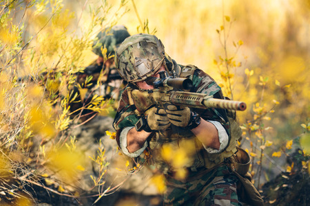 airsoft: sniper and spotter in the field