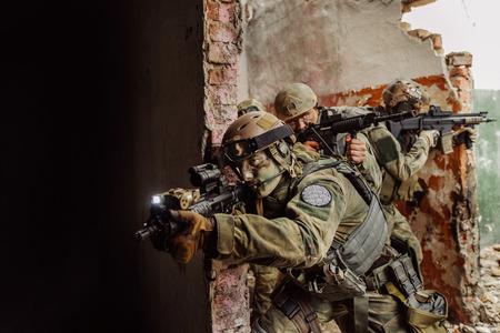 operator warrior stormed the building
