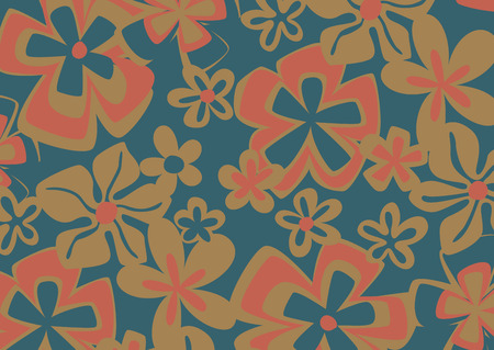 formal garden: vintage flowers in pattern