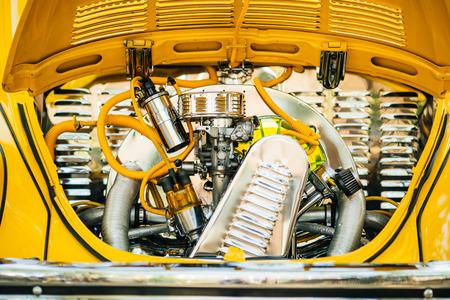 Vintage old car engine