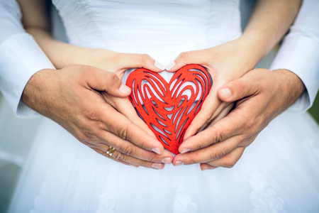 get in shape: heart of the newly married couple