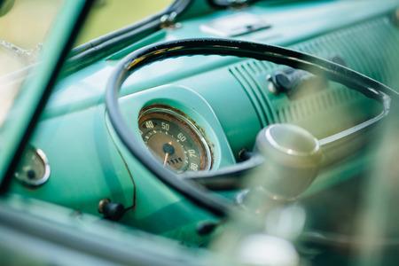 vehicle interior: Vehicle Interior old Vintage car