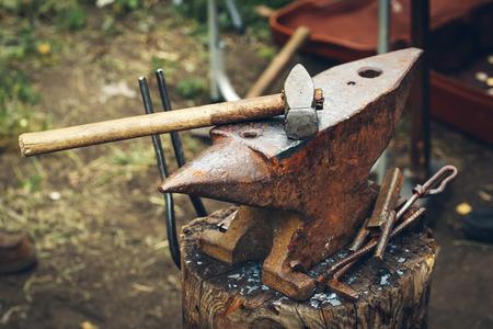 Blacksmith Tools on anvil