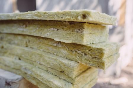Thermal insulation material folded slim layers Standard-Bild