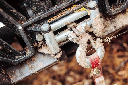 supercross: dirty hook winch bumper atv in the forest