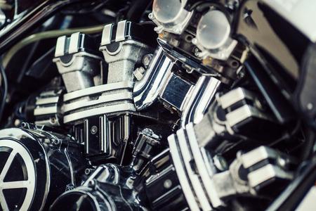 Eine Nahaufnahme von einem Verbrennungsmotor