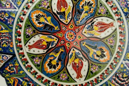 Close up von Vintage-Schale mit traditionellen orientalischen Ornament Standard-Bild - 43059162