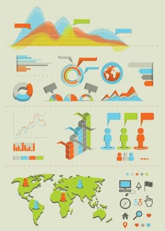 Infographics set 01 Vettoriali