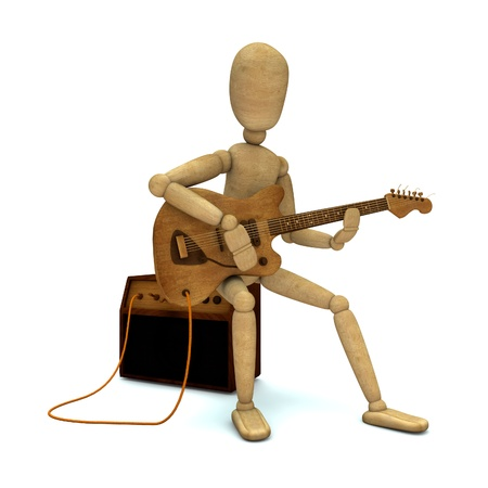 indie: Dummy plays electric guitar