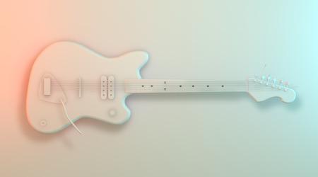 Guitar white model