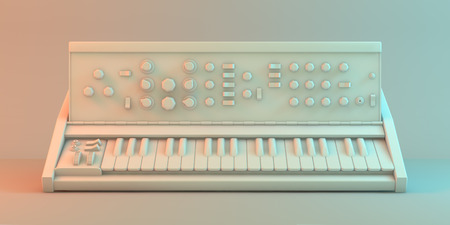 synthesizer: Synthesizer white model Stock Photo