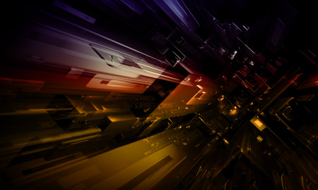 Abstract future city background