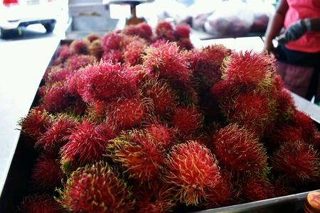 Rambutan in market
