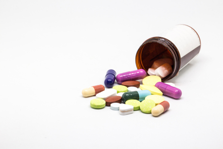 different medicine drugs, pills, tablets. pharmaceutical medicine pills