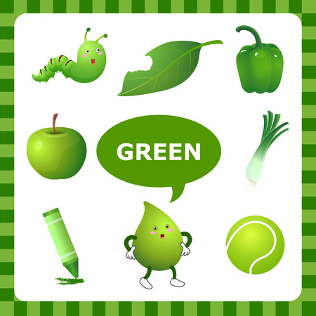Learn The Color Green  things that are green color