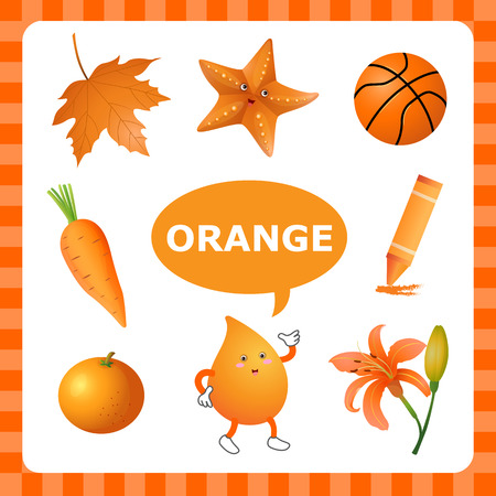 Learn The Color Orange  things that are orange color Çizim