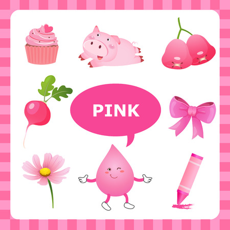Learn The Color Pink  things that are pink color