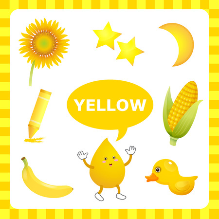 preschool teacher: Learn The Color Yellow  things that are yellow color