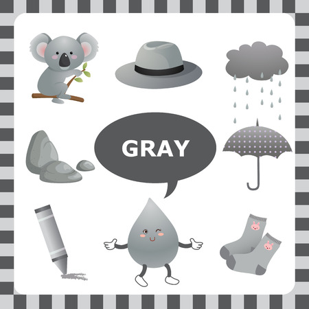 primary colors: Learn The Color Gray things that are gray color