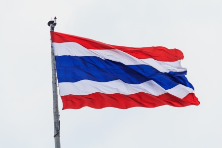 Thailand flag pole Stock Photo