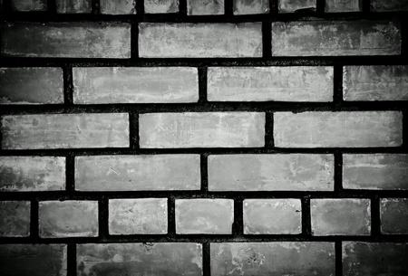 white: Black and white brick wall background Stock Photo